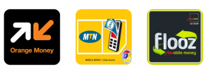 Paiement mobile Orange Money, MTN mobile money, Moov Flooz