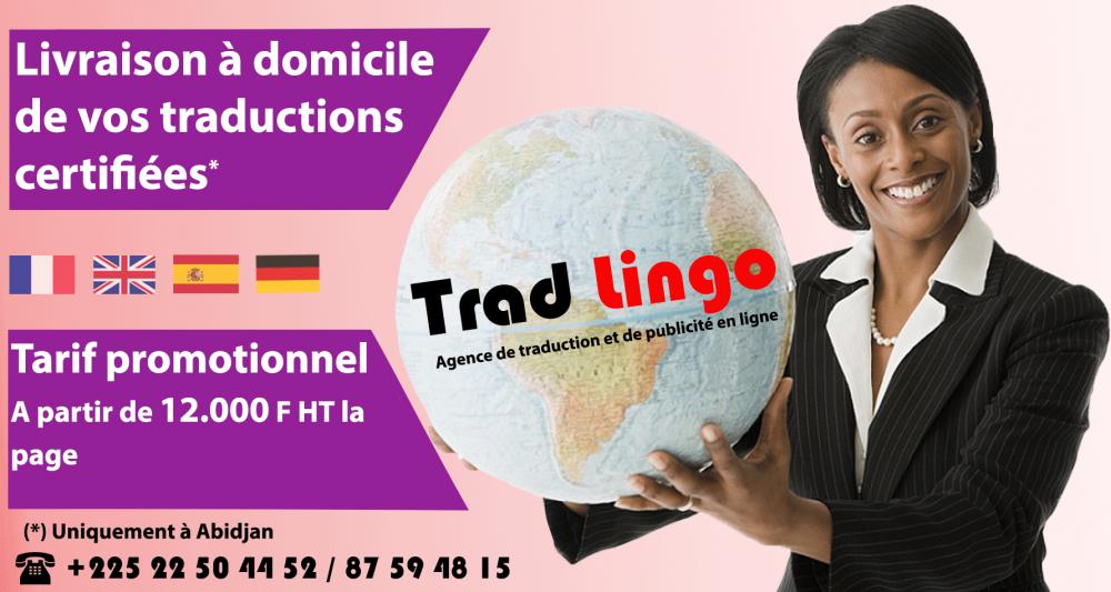 Agence de traduction certifiée Abidjan